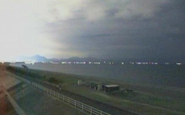 静岡県沼津市 沼津市大塚から見える駒河湾ライブカメラと雨雲レーダー