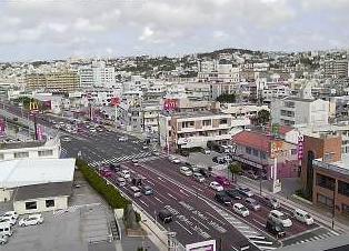 渋滞状況がわかる国道58号線ライブカメラ(牧港)