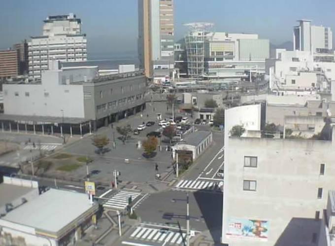 停止中:高松駅前ライブカメラと雨雲レーダー/香川県高松市