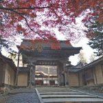 高野山 山門の紅葉360度パノラマカメラ