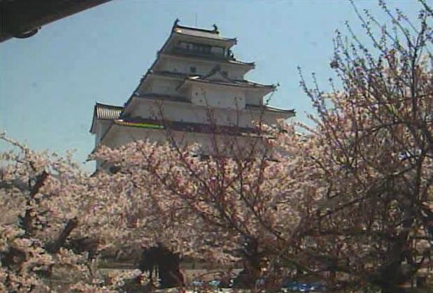 停止中:鶴ヶ城ライブカメラと雨雲レーダー/福島県会津若松市