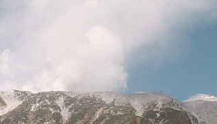 御嶽山ライブカメラ2と雨雲レーダー/長野県