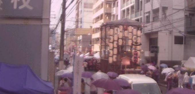 京都府中京区 祇園祭り・四条西洞院上蟷螂山町付近がみえるライブカメラと雨雲レーダー