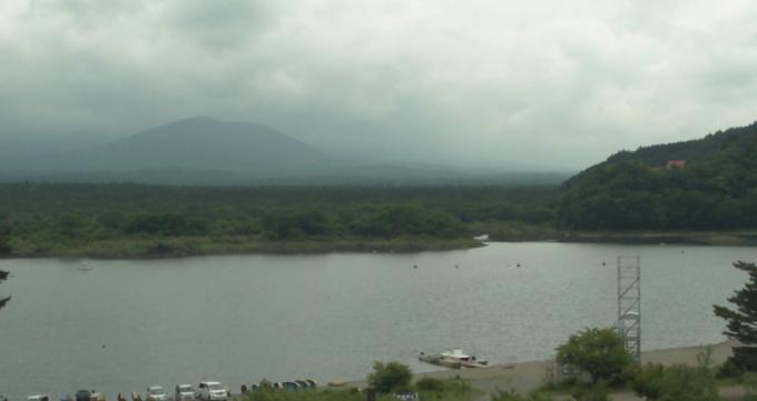 精進湖と富士山ライブカメラと雨雲レーダー/山梨県富士河口湖町