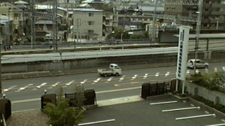 京阪御殿山駅付近がみえるライブカメラと雨雲レーダー/大阪府枚方市