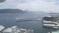 唐戸から見た関門海峡ライブカメラと雨雲レーダー/山口県下関市