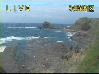 新潟県佐渡市(佐渡島) 沢崎鼻ライブカメラと雨雲レーダー