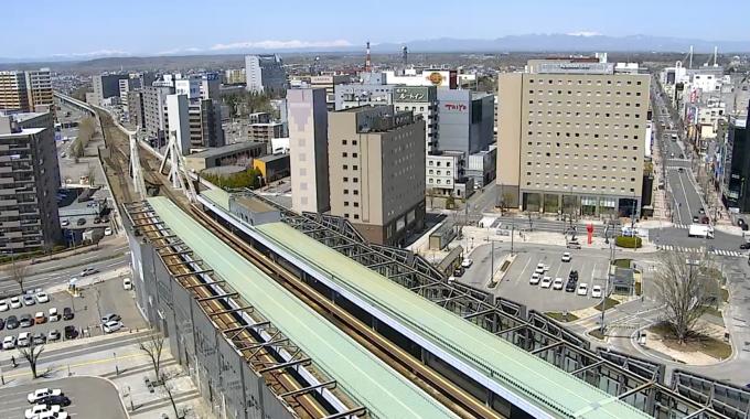 北海道帯広市 JR帯広駅ライブカメラと雨雲レーダー