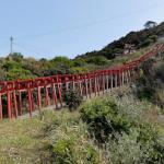 元乃隅稲成(もとのすみいなり)神社 一二三の鳥居の360度パノラマカメラ