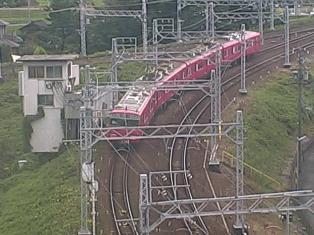 停止中:名古屋鉄道(名鉄)ライブカメラ2と雨雲レーダー/愛知県清須市