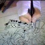 漫画家 村田 雄介(NEBU_KURO)さんのカラー作業ライブカメラ