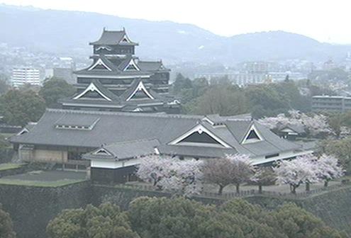 熊本城と熊本市内ライブカメラと雨雲レーダー/熊本県熊本市