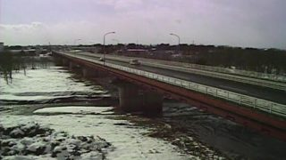 北上川・桜木橋周辺ライブカメラと雨雲レーダー/岩手県奥州市
