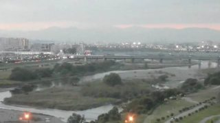 停止中:多摩川ライブカメラ(YouTube)と雨雲レーダー/東京都世田谷区