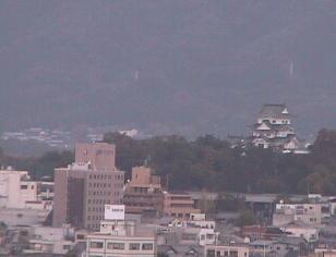 停止中:上野城ライブカメラと雨雲レーダー/三重県伊賀市