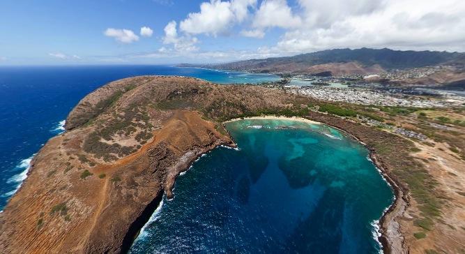 オアフ島 ハナウマ湾360度パノラマカメラ