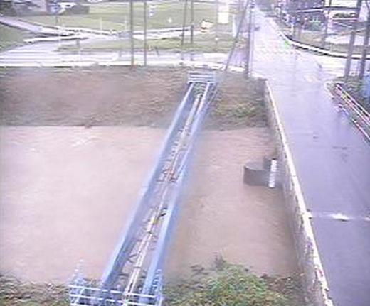 能代川と五部一橋ライブカメラと雨雲レーダー/新潟県五泉市