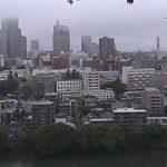 愛宕神社から望む仙台市中心部の街並みや広瀬川ライブカメラ