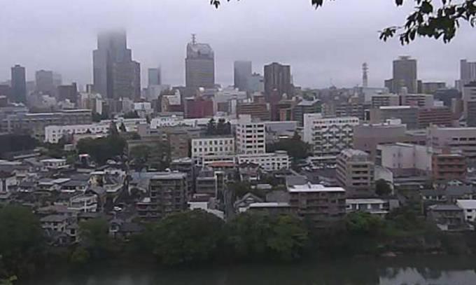 愛宕神社から望む仙台市中心部の街並みや広瀬川ライブカメラと雨雲レーダー/宮城県仙台市