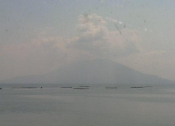 伊達酒造福山から見える桜島ライブカメラ