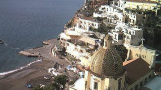 イタリア アマルフィ海岸の宝石ポジターノライブカメラ