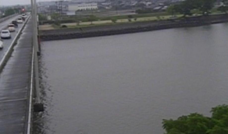 菊池川 ライブカメラと雨雲レーダー/熊本県