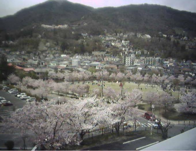 長野県長野市 城山公園ライブカメラと雨雲レーダー