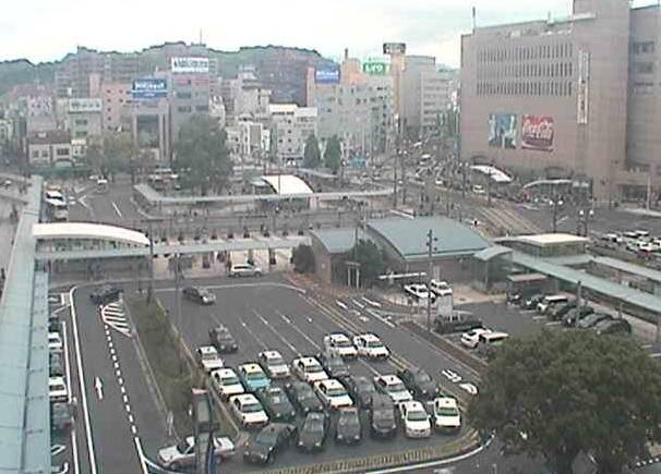 鹿児島中央駅前ライブカメラと雨雲レーダー/鹿児島県鹿児島市