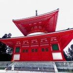 高野山・壇上伽藍の冬の大塔360度パノラマカメラ