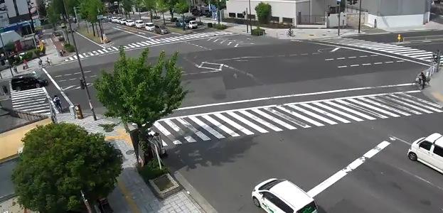 大阪府大阪市 府道41号(なにわ筋)塩草2交差点ライブカメラと雨雲レーダー