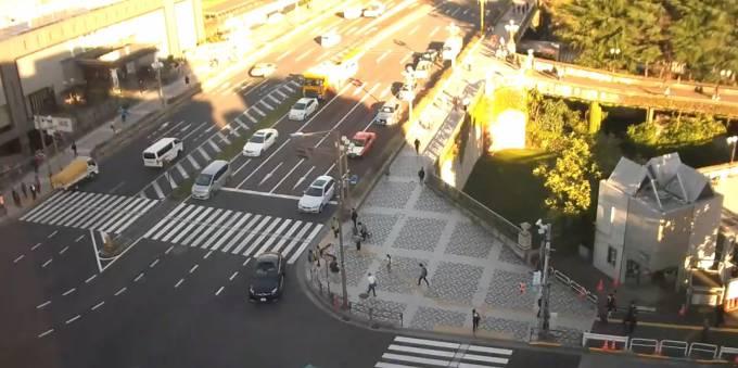 東京都新宿区 新宿通り・四谷交差点ライブカメラと雨雲レーダー