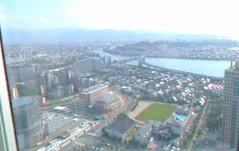 福岡タワー(展望室)から見える360度パノラマカメラ