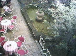 イノダコーヒ本店のお庭ライブカメラと雨雲レーダー/京都市堺町