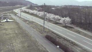 高遠浄化センター前の県道209号ライブカメラと雨雲レーダー/長野県伊那市