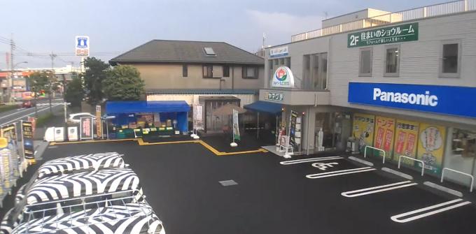 東京都町田市 でんかのヤマグチライブカメラと雨雲レーダー