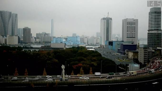 東京都港区 汐留 高速道路ライブカメラと雨雲レーダー