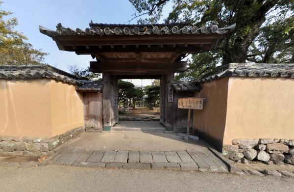 藩校の門360度パノラマカメラ