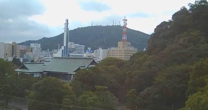 旧徳島城表御殿庭園と眉山ライブカメラ(FRESH)と雨雲レーダー/徳島県徳島市