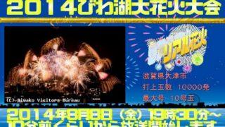 2014年8月8日 びわ湖大花火大会が見れるライブカメラと雨雲レーダー/滋賀県大津市