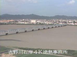 吉野川ライブカメラ(6ヶ所)と雨雲レーダー/徳島県