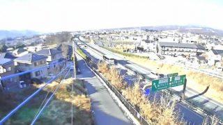 中央自動車道(中央道)双葉JCT南側ライブカメラと雨雲レーダー/山梨県甲斐市