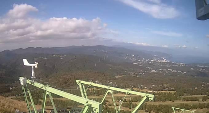 大室山山頂ライブカメラと雨雲レーダー/静岡県伊東市