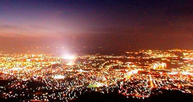 皿倉山展望台からの夜景360度パノラマカメラ
