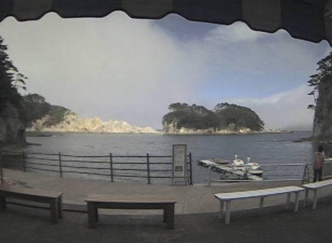 岩手県宮古市 浄土ヶ浜ライブカメラ(浄土ヶ浜マリンハウス)と雨雲レーダー