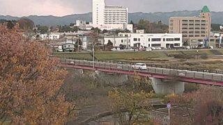 長木川と大館橋ライブカメラと雨雲レーダー/秋田県大館市