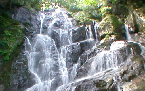 白糸の滝の360度パノラマカメラ