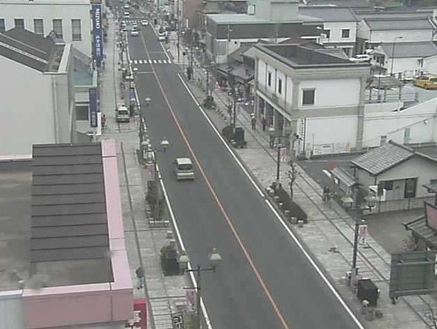 栃木県栃木市 とちぎ蔵の街大通りライブカメラと雨雲レーダー