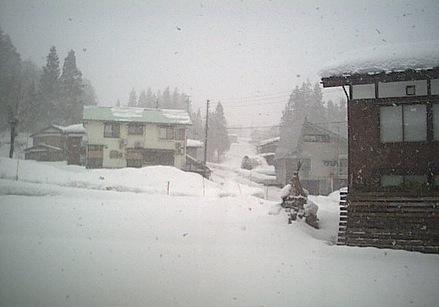 民宿小西屋から見える須原スキー場ライブカメラ