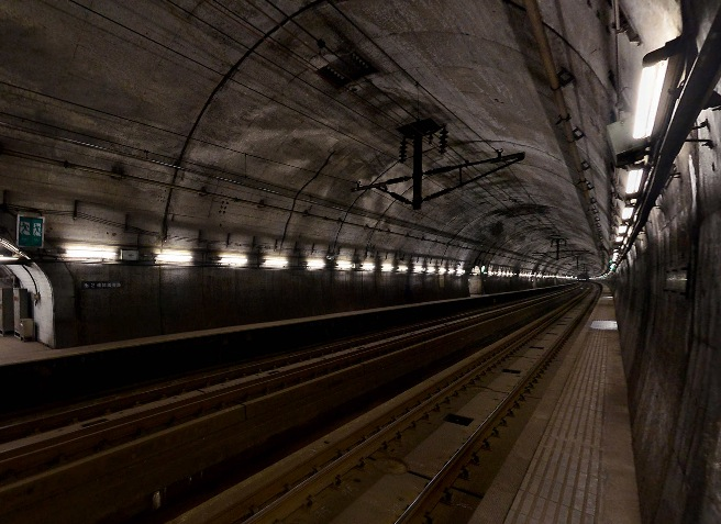 鉄道ファン必見!青函トンネル「竜飛海底駅」の360度パノラマカメラ