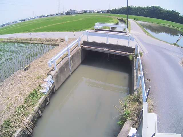 愛知県安城市 神田支川・追田雨水幹線ライブカメラ(3ヶ所)と雨雲レーダー